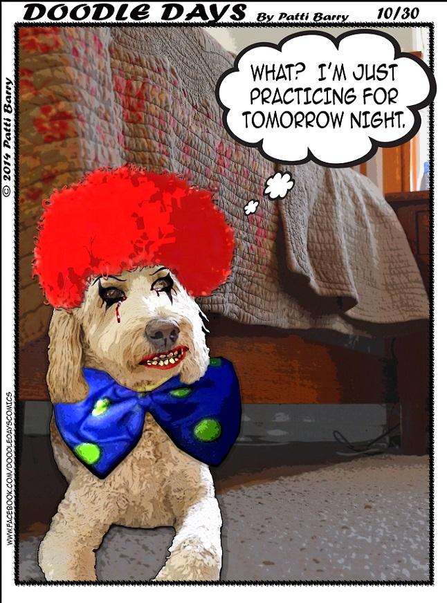 Doodle Days 10-30-14 clown under bed